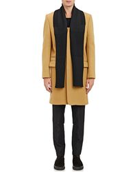 Tim Coppens - Melton Overcoat With Zip-off Scarf - Lyst