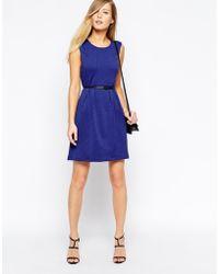 Oasis Blue Textured Dress - Lyst
