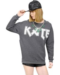 N.e.p.a.l. Downtown - Embellished & Printed Cotton Sweatshirt - Lyst