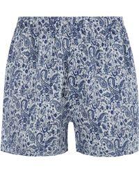 Sunspel Blue Paisley Liberty Print Boxer Shorts - Lyst