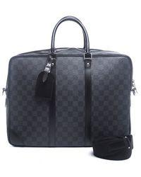 Louis Vuitton Pre-owned Damier Graphite Porte-document Voyage Bag - Lyst