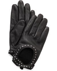 Club Monaco Adee Driving Gloves - Blackgold - Lyst