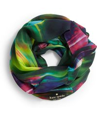 Kate Spade Abstract Print Infinity Scarf - Lyst