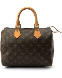 Louis Vuitton Speedy 25 Brown Handbag - Lyst