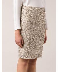 Alice + Olivia Sequined Skirt - Lyst