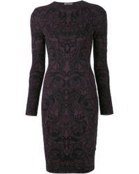 Alexander McQueen Jacquard Print Dress - Lyst