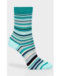 Paul Smith Teal 'Signature Stripe' Socks teal - Lyst