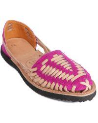 Ix Style | Children's Magenta Woven Leather Huarache Sandals | Lyst