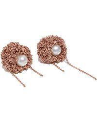 Arielle De Pinto - Women's Pearl Nuggies Rose Gold Earrings In Rose Gold - Lyst