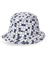 Hermès HermãˆS White & Navy Printed Sun Hat - Lyst
