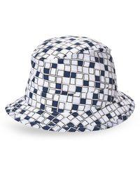 Hermes Hermãs White  Navy Printed Sun Hat - Lyst