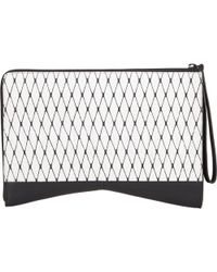 Narciso Rodriguez Diamond-Patterned Python Clutch - Lyst