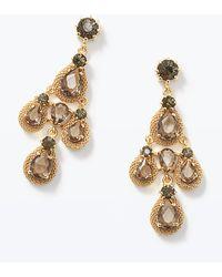 Ann Taylor Raindrop Chandelier Earrings - Lyst