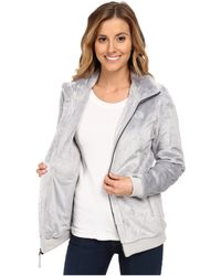 The North Face Gray Mod-Osito Jacket - Lyst