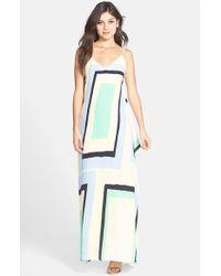 Charlie Jade Print Silk Trapeze Maxi Dress - Lyst