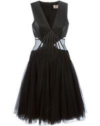 Christopher Kane Sleeveless Abstract Boning Dress - Lyst