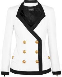 Balmain Double-Breasted Piqué Jacket - Lyst
