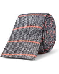 A.P.C. - Striped Slub Wovensilk Tie - Lyst