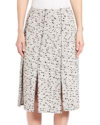 Nina Ricci   Tweed Pleated Panel Skirt   Lyst