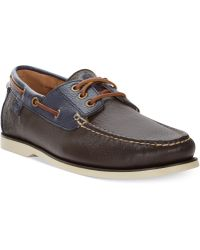 Polo Ralph Lauren Bienne Tumbled Leather Boat Shoes - Lyst