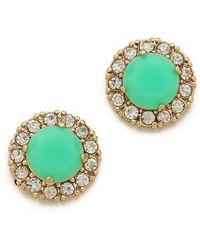 Kate Spade - Secret Garden Stud Earrings Bud Greenclear - Lyst