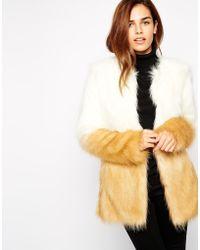 Urbancode Faux Fur Jacket In Ombre Effect - Lyst