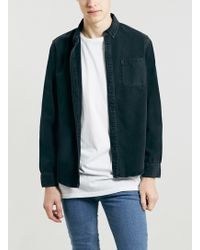 Lac Washed Bk Denim Long Sleeve Shirt - Lyst