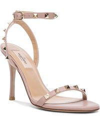 Valentino Leather Rockstud T.100 Sandals - Lyst