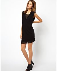 Y.a.s Mercure Dress with Sheer Inserts - Lyst