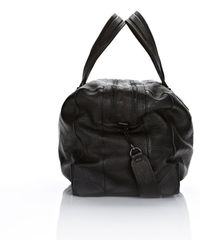 Alexander Wang - Wallie Duffle In Black Goatskin With Matte Black - Lyst
