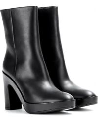Balenciaga Pads Leather Ankle Boots - Lyst