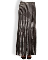 Missoni Lurex Knit Pleated Maxi Skirt - Lyst