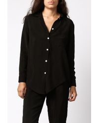 Objects Without Meaning - Silk Button-Down Shirt - Lyst