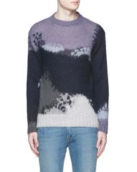 PS by Paul Smith | Abstract Pattern Intarsia Mohair Blend Sweater | Lyst