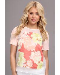 Aryn K. - Floral Short Sleeve Top - Lyst