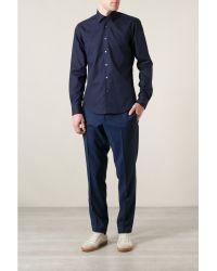 Mr Start Navy Classic Cotton Shirt - Lyst