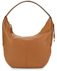 Halston Heritage Pebbled Leather Shoulder Bag - Lyst