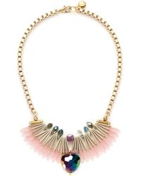 Scho - Electroplate Crystal Fan Necklace - Lyst