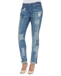 True Religion Audrey Mid-Rise Patchwork Jeans - Lyst