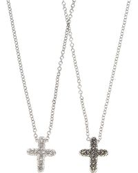 Judith Jack - Two Sided Marcasite Heart Necklace - Lyst