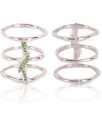 Vara Of London - The Silver Bamboo Ring - Lyst