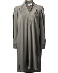 Maison Martin Margiela Asymmetric Blouse Dress - Lyst