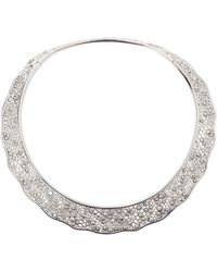 Aurelie Bidermann | Dentelle Diamond Lace Collar Necklace | Lyst