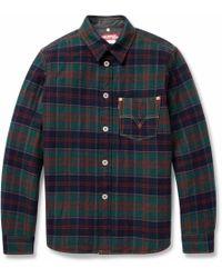 Junya Watanabe Padded Check Woolblend Shirt - Lyst