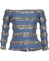 Balmain Denim Outerwear - Lyst