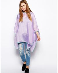 ASOS - Packaway Poncho with Back Pack - Lyst