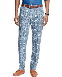 Brooks Brothers Milano Fit Nautical Print Pants - Lyst