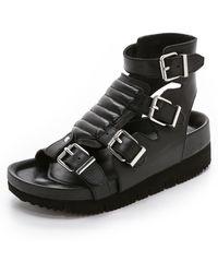 Ash Tribal Buckle Sandals - Black - Lyst