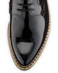 Jimmy Choo Miles Patent Star-stud Derby Shoe - Lyst
