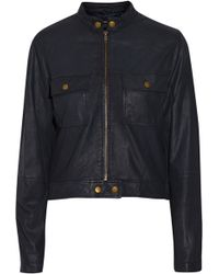 Current/Elliott The Zip Moto Leather Jacket - Lyst